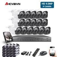 5MP HDMI POE NVR Kit CCTV Security System DVR 16PCS Audio Record IP Camera P2P Video Security Camera Kit Set 2TB HDD
