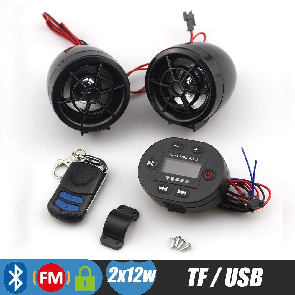 Bluetooth мотоциклетные Руль управления для мотоциклов Колонки TF FM Радио MP3 плеера удаленного мотоцикл стерео Усилители домашние звуковая сист...