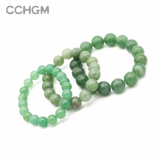 2017 New Natural Green Aventurine stone beads bracelets for women round beads bracelet jewelry with pendant vintage jewelry