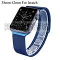 Высокое качество новый синий магнит замок из нержавеющей стали яблоко для 42 мм 38 мм для Apple , часы iwatch, С адаптером