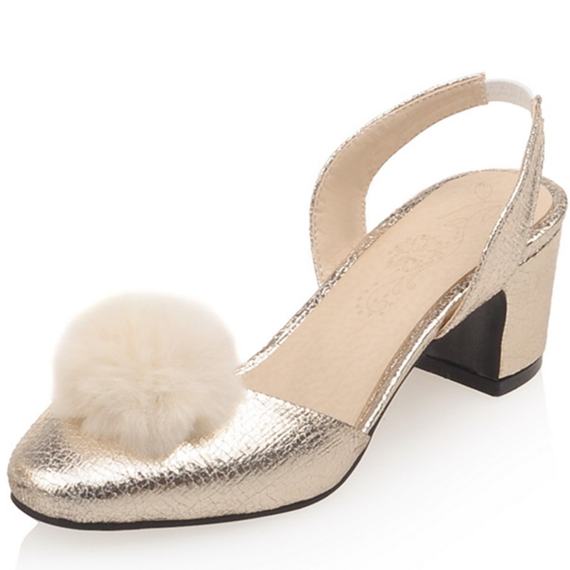 12749543f9 ENAMYLA Mulheres Tamanho da Plataforma Sapatos de Salto Alto Verão  Sandálias Sapatos Mulher Dourada 33 43 Sandálias de Dedo Do Pé Redondo  Bombas Partido ...