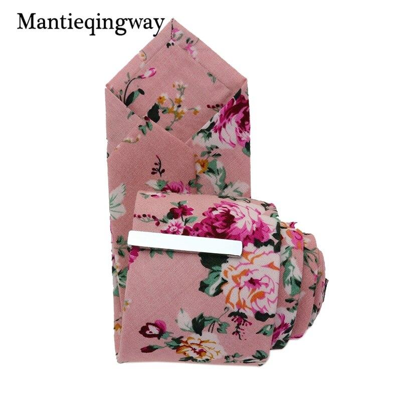 Sammlung Hier Mantieqingway Männer Baumwolle Krawatte Mit Silber Krawattenklammern Set Anzüge Krawatten Krawatte Für Hochzeit Formale Floral Krawatte Gravata Rabatte Verkauf