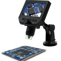 1-600x3.6MP USBกล้องจุลทรรศน์ดิจิตอลอิเล็กทรอนิกส์4.3นิ้วHDจอแสดงผลOLED VGAกล้องจุลทรรศน์PCBซ่อม