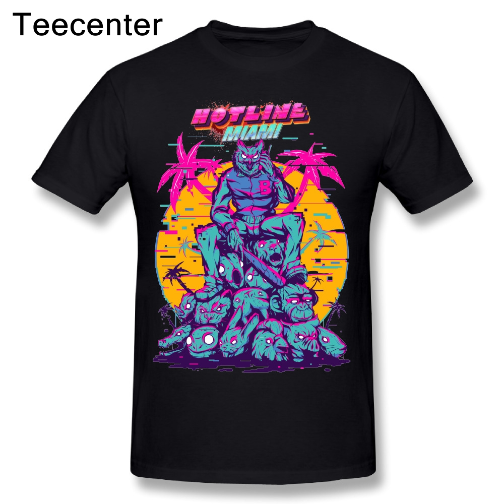 Awesome Hotline Miami   T  -  Shirts   New Arrival Boy 100% Cotton   T     Shirts