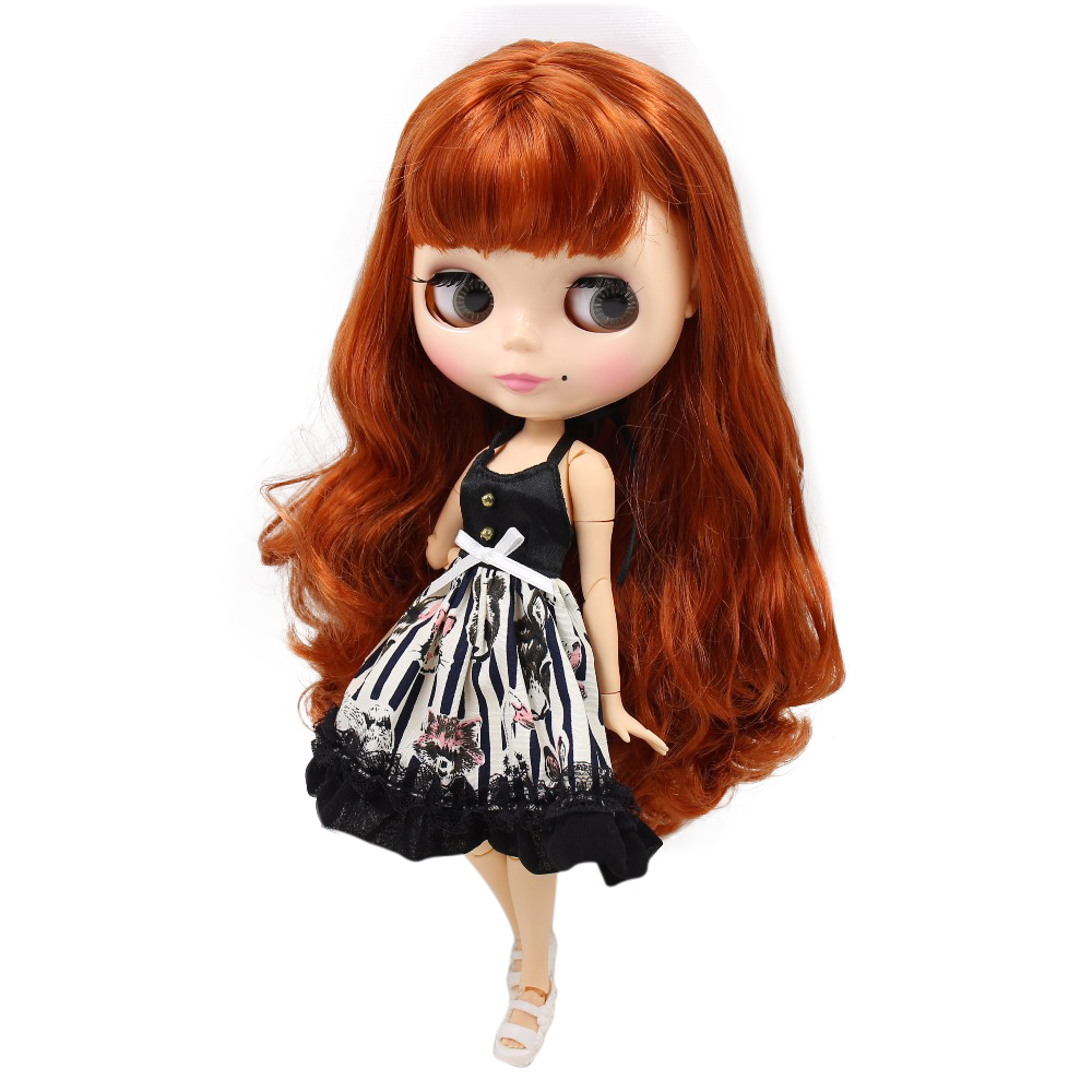 Factory Blyth Doll Red Brown Hair Bl1207232 Natural Skin Joint Body With Mole 30cm 1/6 Toys & Hobbies Dolls