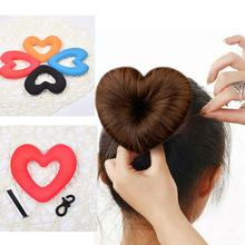 Get more info on the Fashion Hair Donut Heart Magic Sponge Bun Maker Hairstyle Styling DIY Tool Accessory