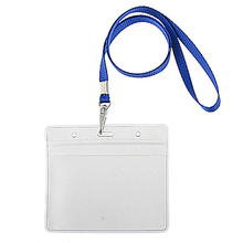 2 pieces water resistant lanyard with badge holder card holder card wallet