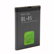 Original High Capacity BL-4S phone battery For Nokia 2680s 3600s 3602S 3710f 3711 6202c 6208c 7610c 7610s 7020 7100s 860mAh