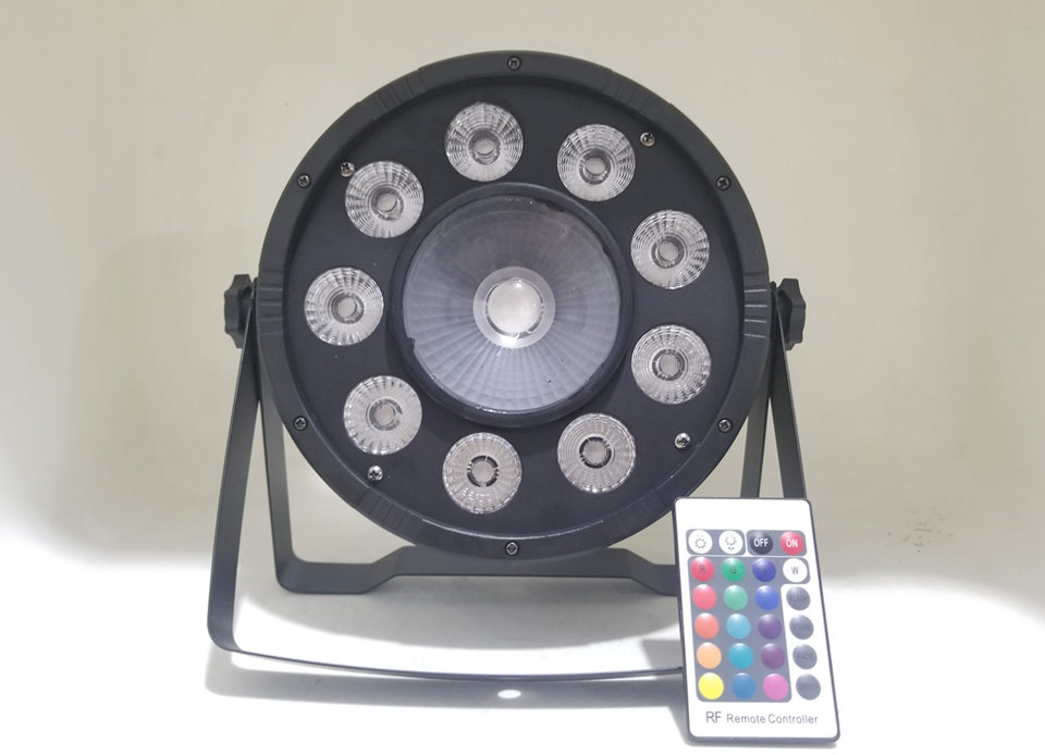 2pcs Wireless Remote Control LED 9x10 W +30W RGB 3in1 LED Par Light Wash Step Uplighting No Noise Remote Control Stage Light