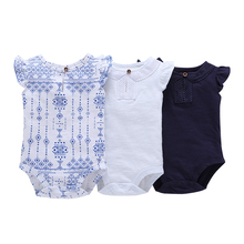 New arrival 1pc Baby cotton Romper Girls Boys fashion o-neck Summer Clothing Hot sale Newborn Girl Clothes free shipping