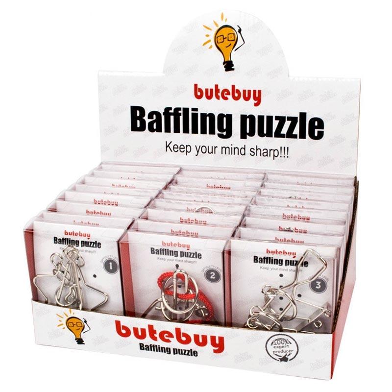 24 pièces/ensemble métal fil Puzzles cerveau Teaser IQ Lock classique intellectuel éducatif jouet assemblé cerveau Teaser jeu cadeau argent