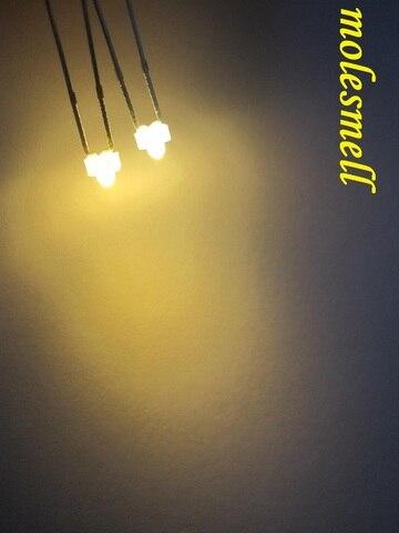 Pces Branco Leitoso Lente Quente Ultra Brilhante Lâmpadas Led Difusa Luz Branca 100 1.8mm