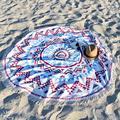 Recém Rodada Hippie Mandala Tapeçaria Praia Cover Up Jogar Roundie Toalha Esteira Da Praia Boêmio Xale