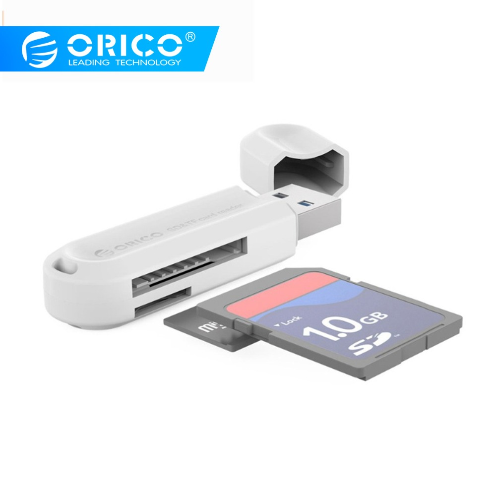 ORICO USB 3.0 Card Reader SD Micro SD Mini Smart Card Reader For MacBook Max 128GB Memory Card Reader All In One USB SD Adapter