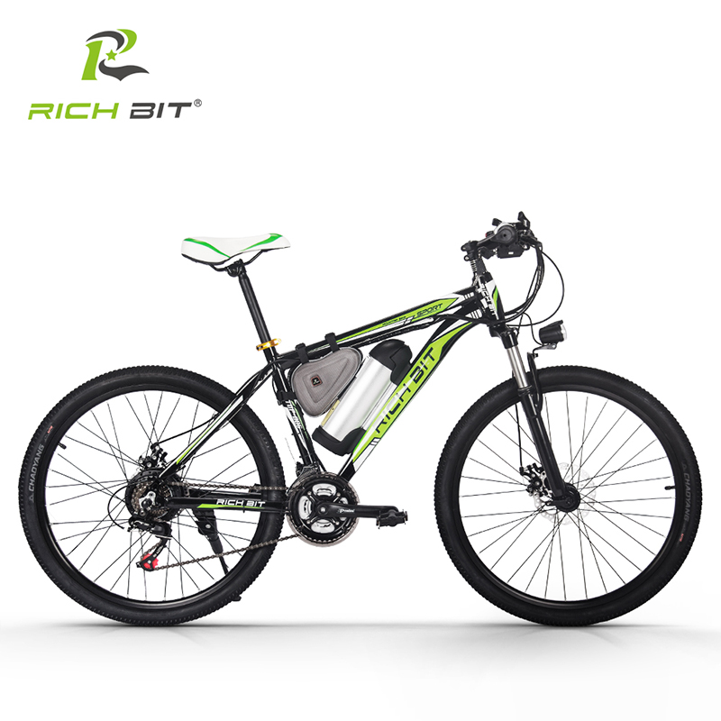 RichBit RT-006 250W Electric Bicycle 36V 10.4Ah Lithium Battery Electric Bike Mountain Ebike 26 Inch 21 Speed ebike  MTB Cycling electric bicycle case 36v lithium ion battery box 36v e bike battery case used for 36v 8a 10a 12a li ion battery pack
