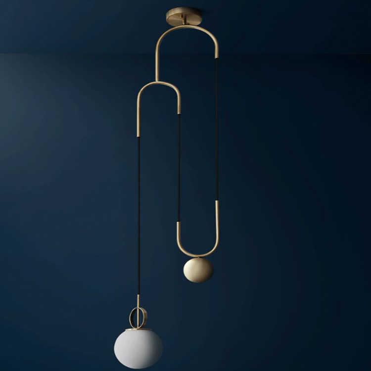الحديثة الحديد قلادة عصابة أضواء كرة زجاجية بيضاء CafeRoom/مصباح إضاءة البار زجاج واحد مصابيح متدلية الديكور إضاءة داخلية E27