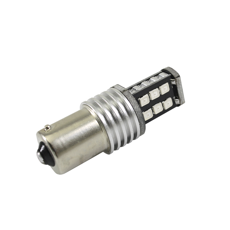 2017 más nuevo P21w 1156 ba15s auto LED lámpara 12v luz del coche - Luces del coche