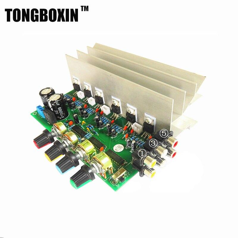 HIFI TDA2030A 5.1 (6) tablero del amplificador de canal doble AC 12 V digital am