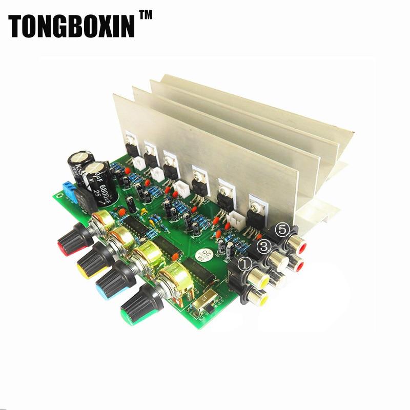obousměrný zesilovač na tda2030 - TDA2030A HIFI 5.1(6) channel amplifier board double AC 12V in digital audio amp pc home amplifiers
