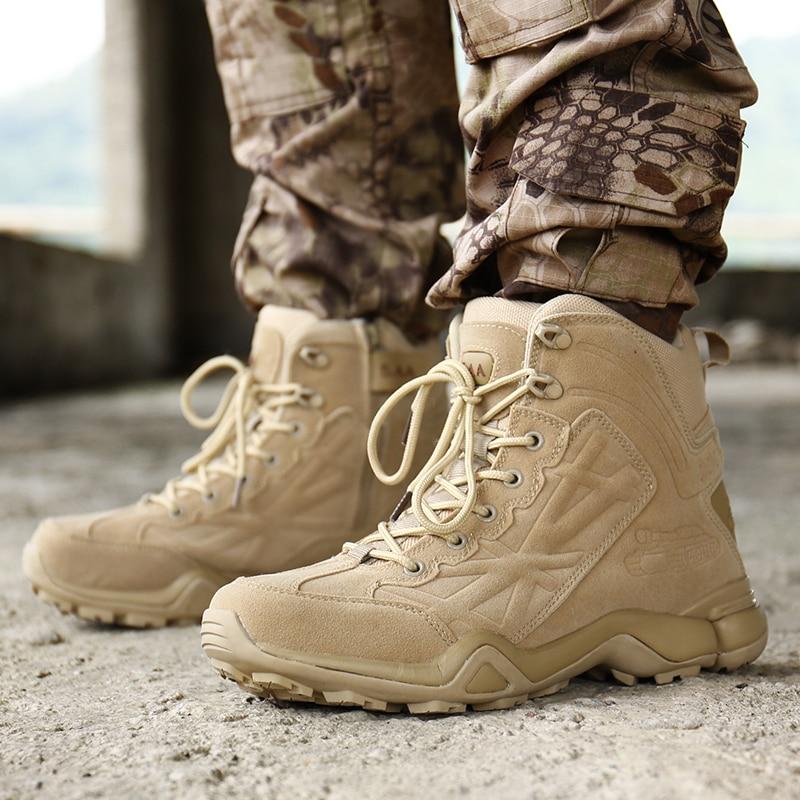 Spéciale Homass Pu Hiver Qualité Automne Bateaux Tactique Combat Force Militaire Neige Bottes Armée black Chaussures Désert Travail Sand Hommes Flock Cheville qAx0wqp