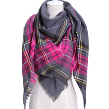 2018 New Design Luxury Brand Women Scarf Acrylic100% Plaid  Lady Triangle Cashmere Shawl