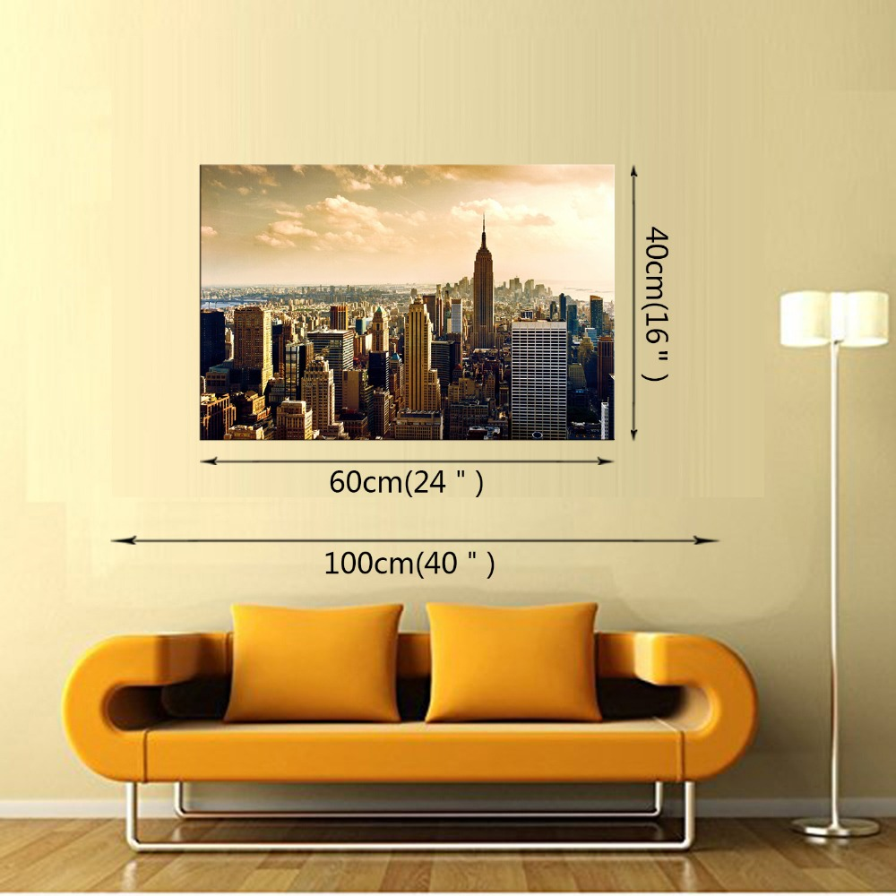 1 Panel Free Shipping Panorama Canvas Painting Prints Nightfall City ...