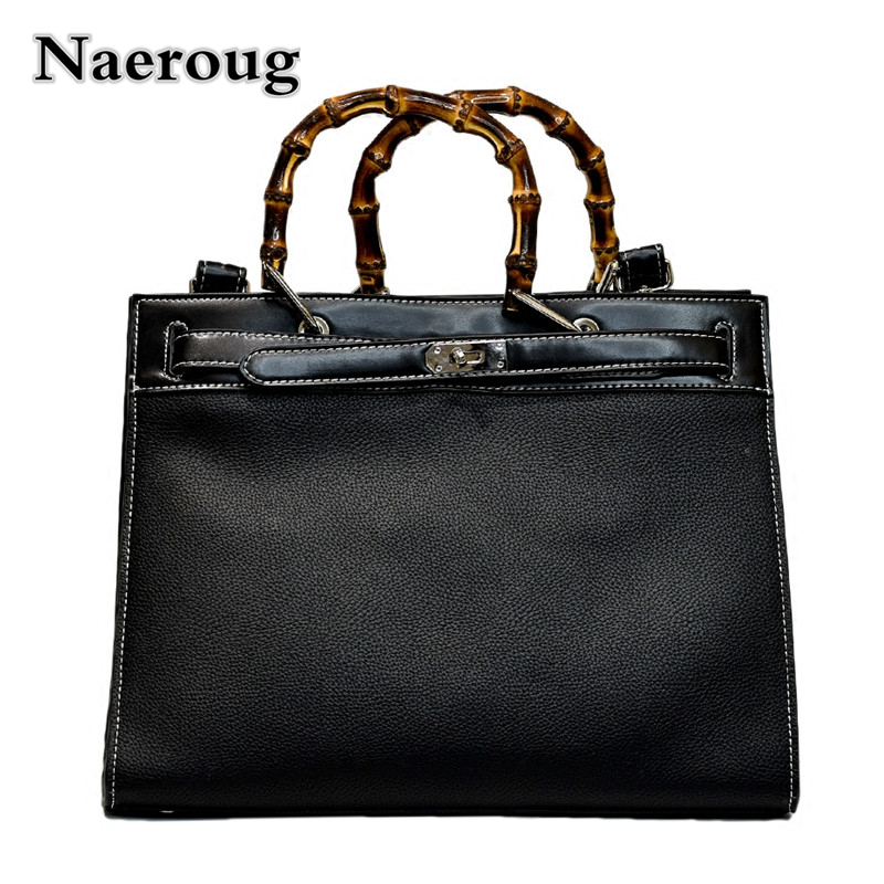 Brand Designer Luxury Women Handbags High Quality Leather Platinum Bag Bamboo Handle Ladies Large Capacity Casual Tote Bag Louis citilux бра citilux cl427310