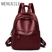 New Bags for Women 2019 Female Backpack Bag High Quality Pu Leather Women Backpack Women's Backpacks Female Leather Satchel цена 2017