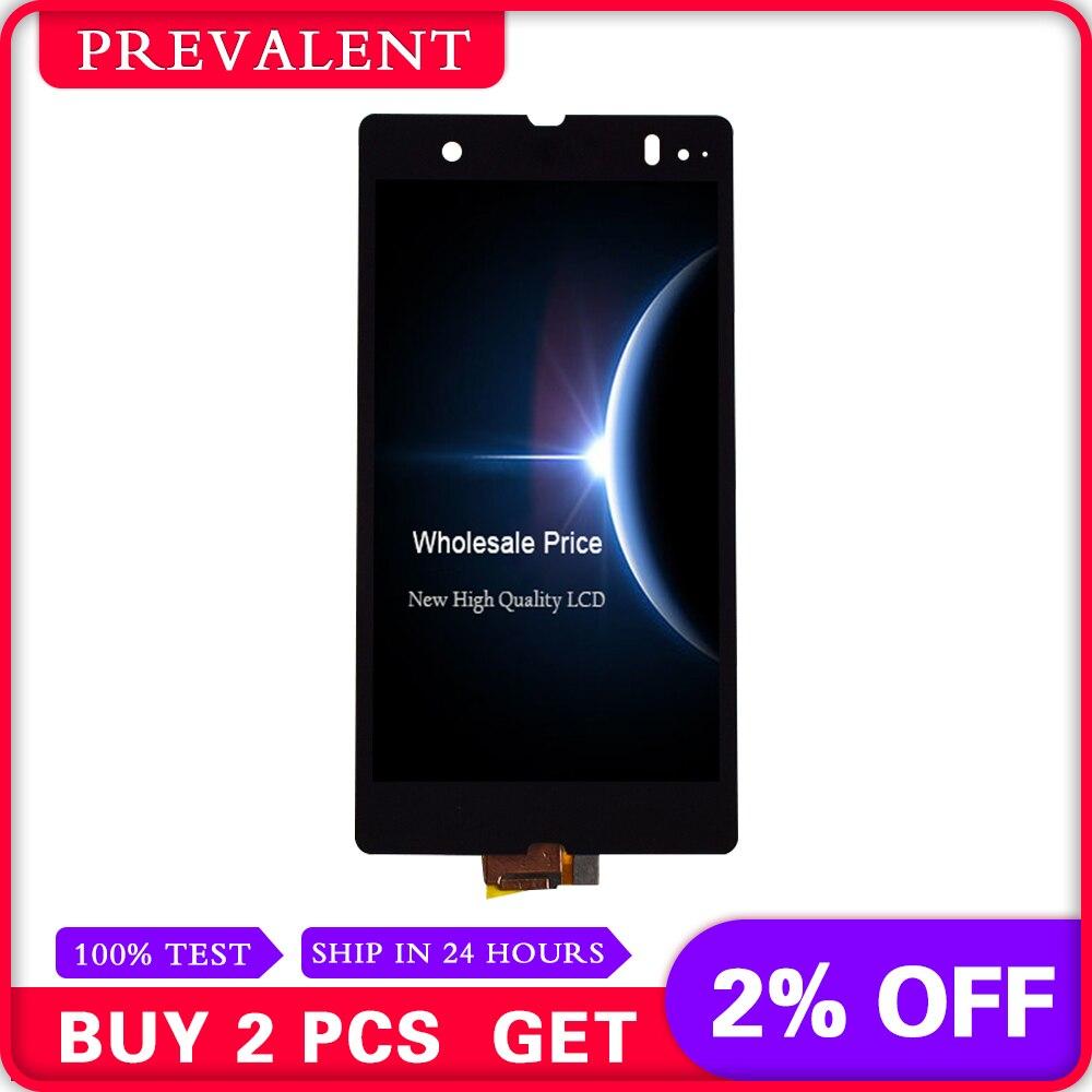 Para Sony Xperia Z L36H L36i C6606 C6603 C6602 C660X C6601 Display LCD + Painel Touch Screen Digitador Sensor de Vidro montagem