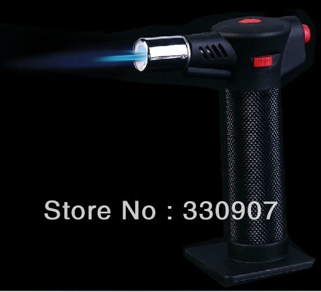 New type torch lighter electric ignition gas burner high temperature multi-purpose flamethrower outdoor kitchen butane gas torch