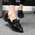 Ms. Noki Butterfly-nudo de la Mujer Bombas Cómodas niñas mujeres no Bombean los zapatos casuales de cuero de cuero Retro pezuña Talón chaussure