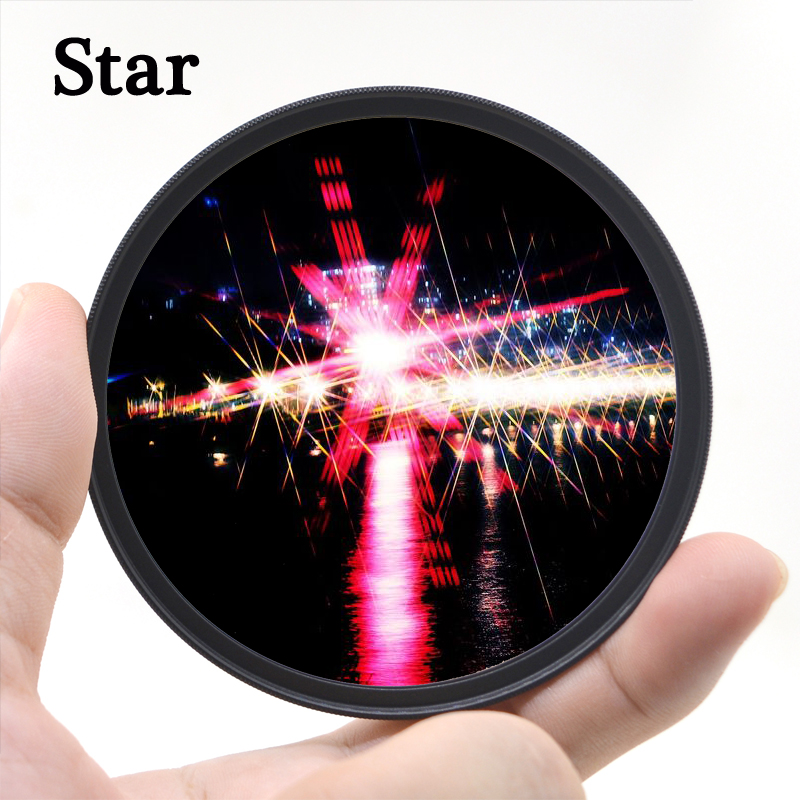 KnightX Star 6 Line Filter For Canon Sony Nikon 500d 200d 400d photo d3300 d600 2000d accessories 49 52 55 <font><b>58</b></font> 62 67 72 77 mm image