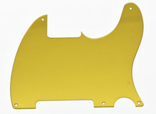 5 Hole Gold Mirror TL  Blank Pickguard Scratch Plate No Pickup Hole