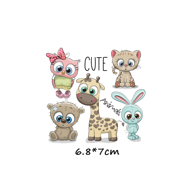 ZOTOONECute cartoon animal girl children 39 s clothing patch paste heat transfer clothing DIY unicorn heat transfer vinyl sticker D in Patches from Home amp Garden
