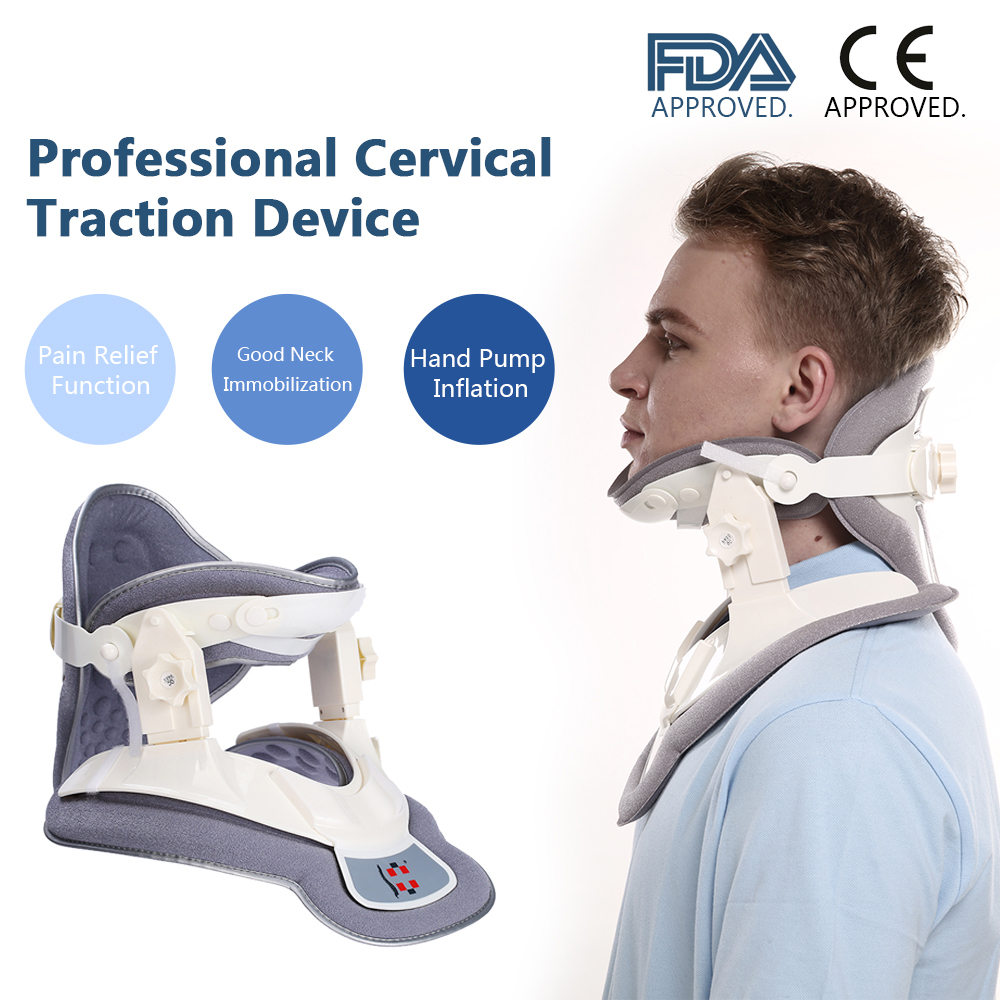 Cervical Traction Device Neck Brace Cervical Traction Therapy Device for Neck Head Massager Collar Pain Relief