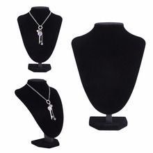 Velvet Jewelry Necklace Pendant Neck Model Props Display Stand Holder 25*18cm