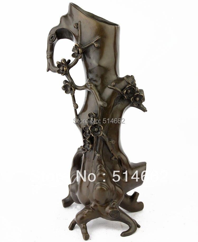 STATUES de Vase de fleur de prunier en laiton FENGSHUI/Figurines de fleur de prunier/Sculptures de fleur de prunierSTATUES de Vase de fleur de prunier en laiton FENGSHUI/Figurines de fleur de prunier/Sculptures de fleur de prunier