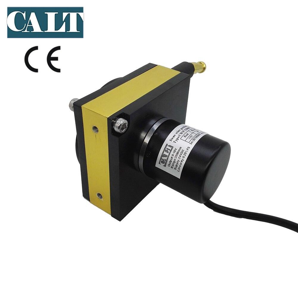 Capteur de position linéaire de petite taille capteur de position potentiomètre linéaire 1500mm avec divers signaux de sortie à choisir