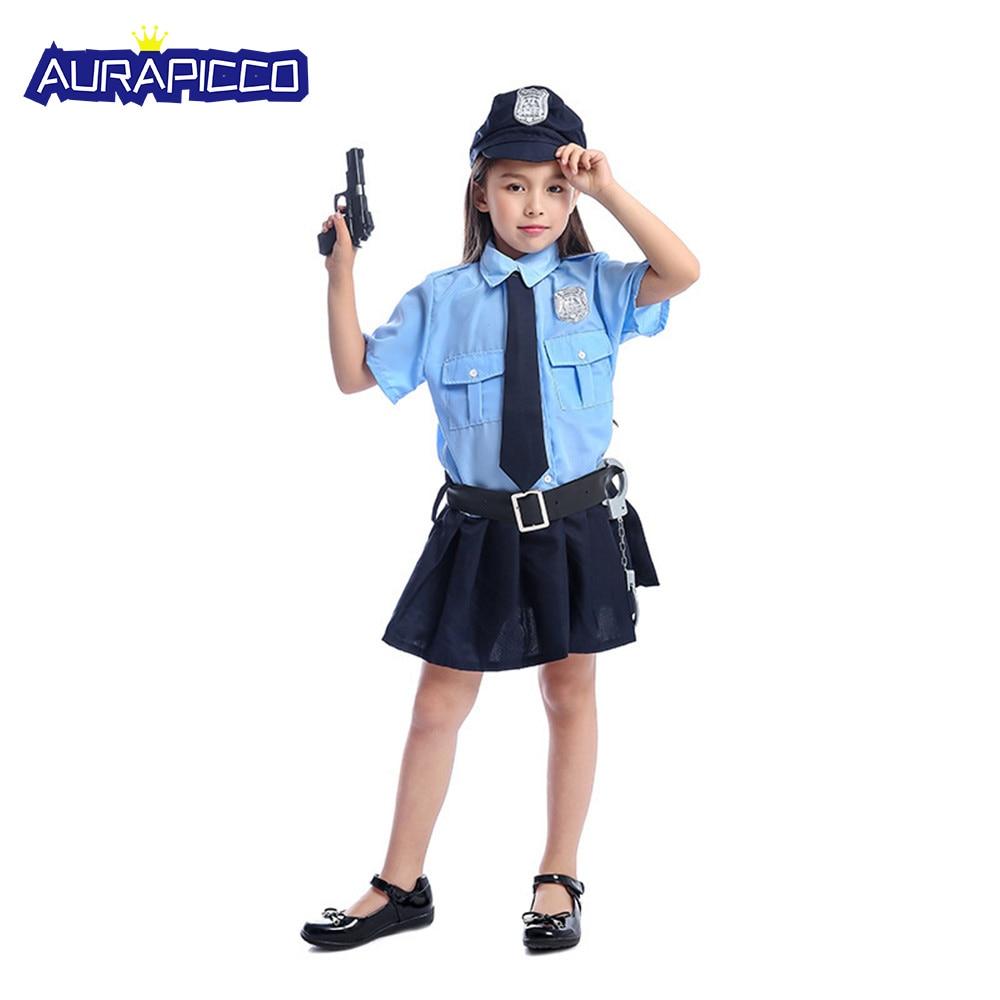Костюм Полицейского для девочек, костюм полицейского, костюм полицейского, костюм на Хэллоуин для детей, подарок на день рождения
