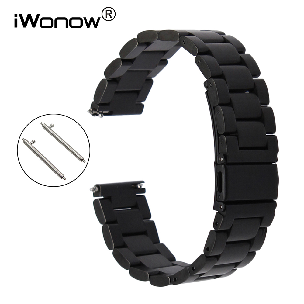Quick Release Stainless Steel Watchband for Casio Citizen Seiko Men Women Watch Band Wrist Strap Bracelet 18mm 20mm 22mm 23mm silicone rubber watchband 19mm 20mm 21mm 22mm 23mm 26mm for seiko men women watch band stainless steel buckle wrist strap black