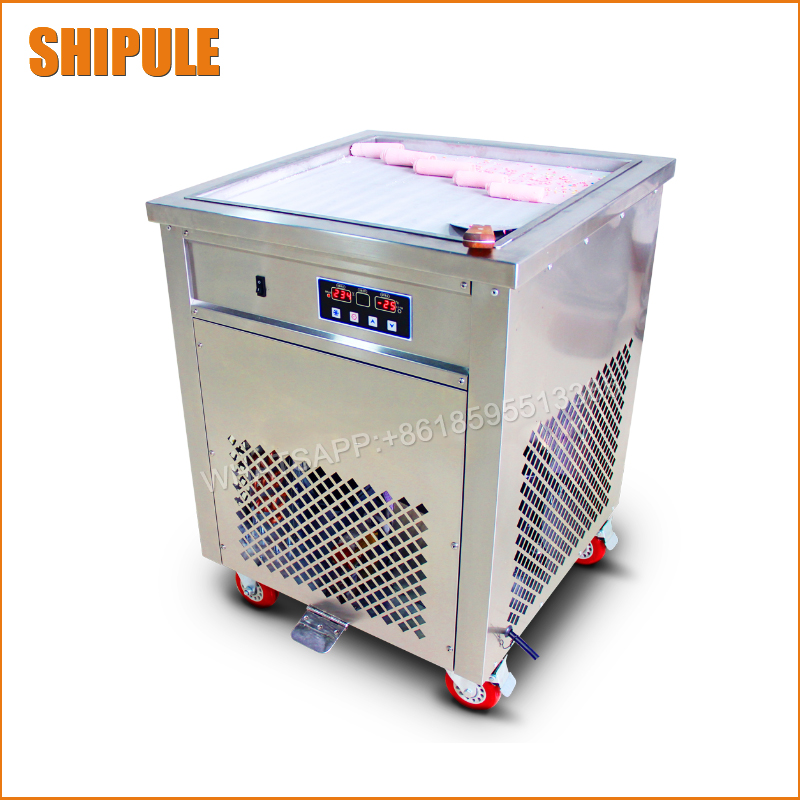 50cm Single square Pan Fried Ice Cream Roll Machine,Commercial Fried milk yogurt machine, ice cream maker