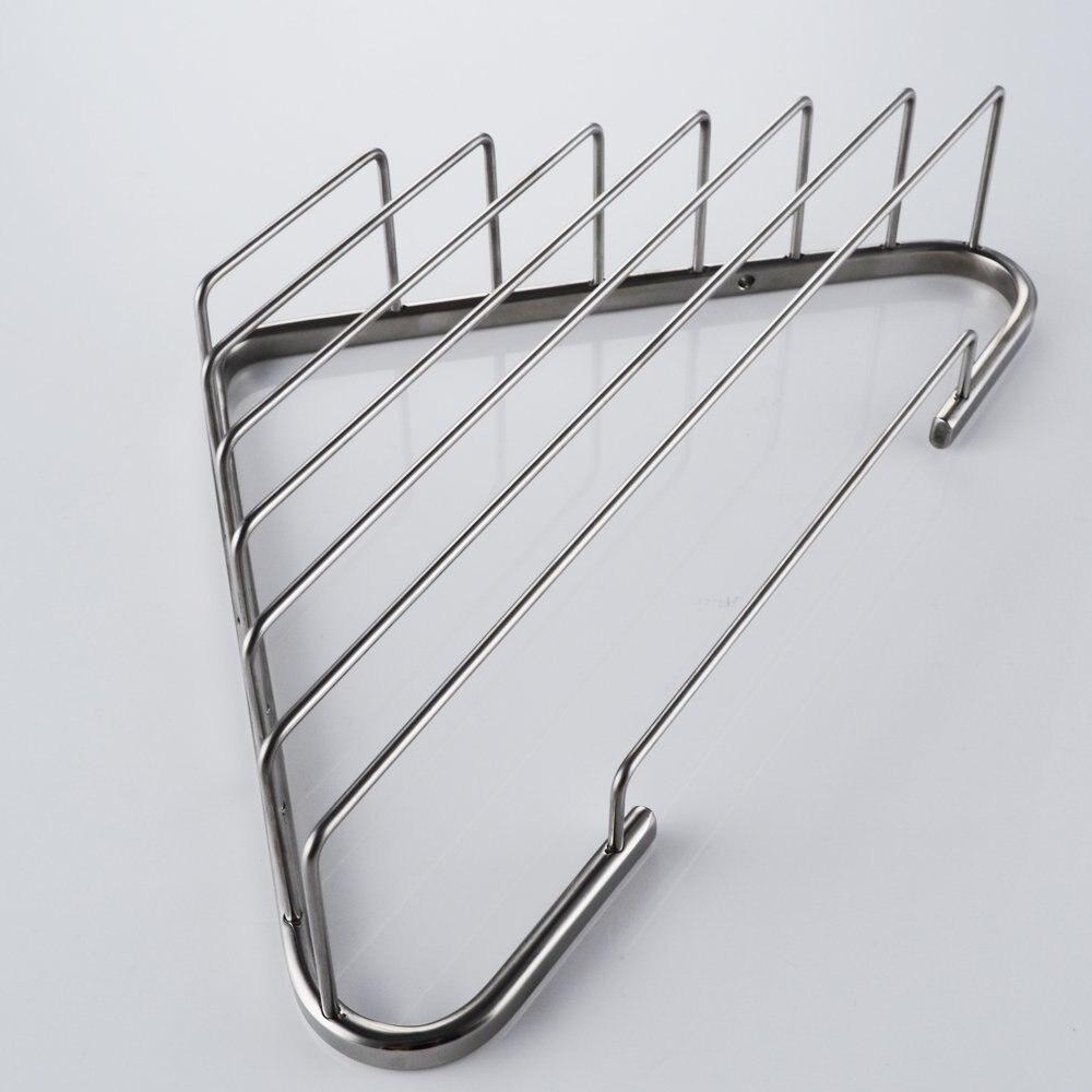 304 Stainless Steel Bathroom Corner Shower Caddy Rustproof Basket ...