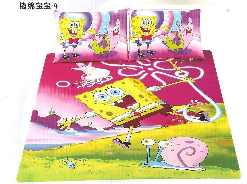 Cartoon Spongebob Printed Bedding Sets Single Twin Size Bedspread Childrens Girl S Home Decor Quilt Duvet Covers