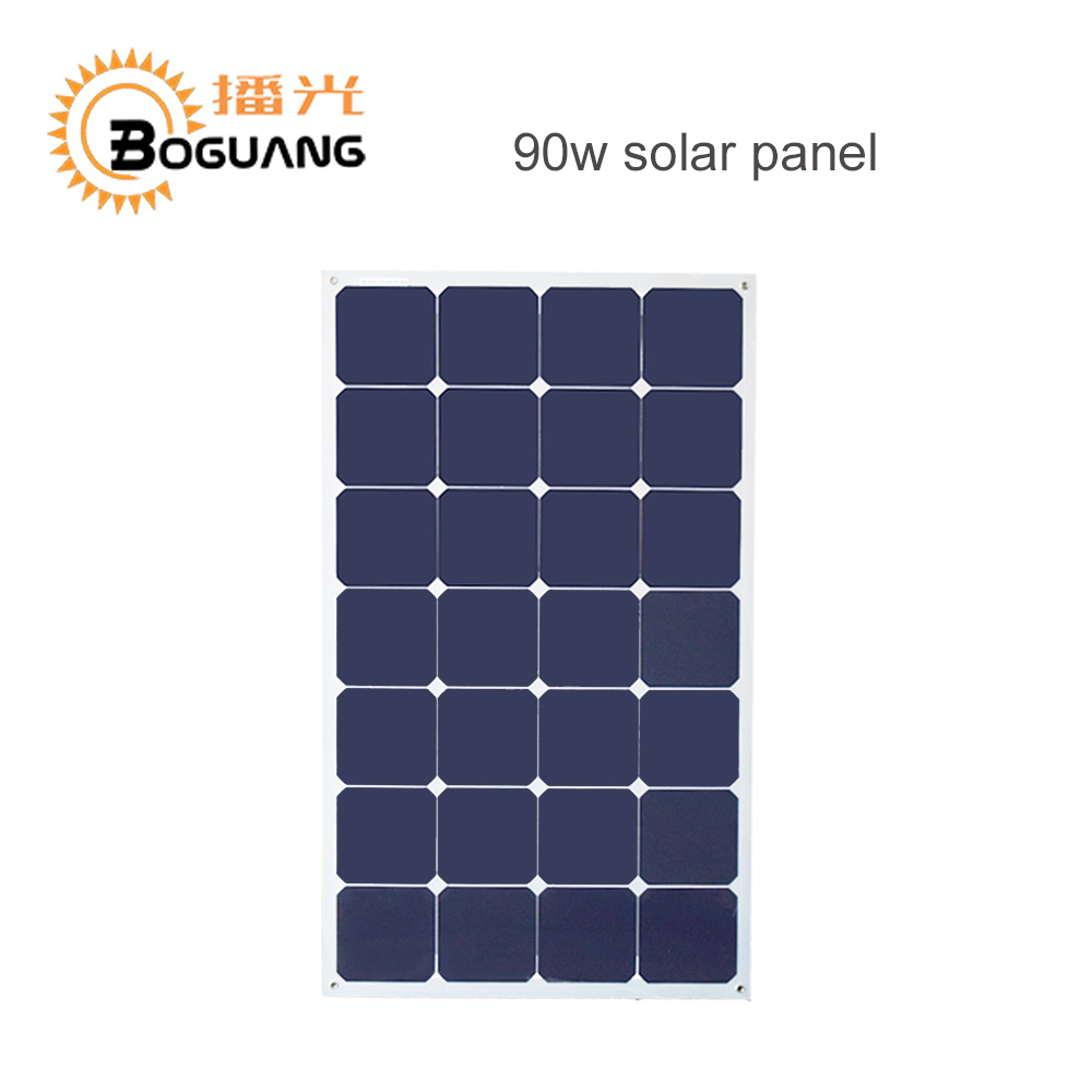 Photovoltaic 90W Aluminum efficient Solar Panel China solar cell module for home system car RV boat yacht 12V battery charger 300w solar system complete kit 3pcs 100w photovoltaic pv solar panel system solar module for rv boat car home solar system