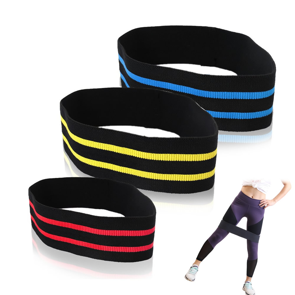 Exercise Bands Hips: Nylon Hip Resistance Bands Workout Hips & Glutes Booty