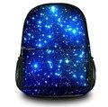 Синий galaxy Холст Рюкзак молодежный девушки сумка Студент Школы рюкзак для мужчин и женщин