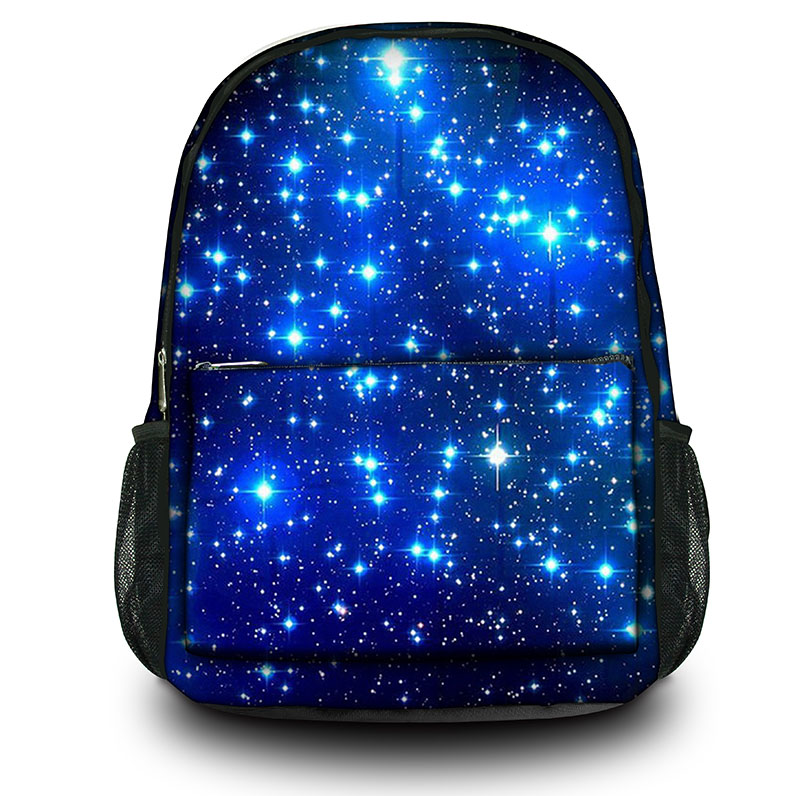 Blue galaxy Canvas Backpack youth girls bag College Student School rucksack for men & women