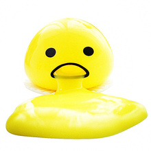 1pc whole person funny decompression toy will vomit and can also eat back the rubber egg yolk