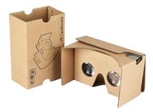Гофрированная бумага, картон 3D Очки виртуальной реальности коробка VR очки Rift для iphone плюс 4.7 5.5 6 дюймов Android IOS Смартфон