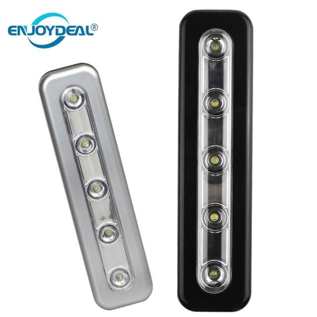 mini draadloze wandlamp 5 led nachtlampje closet lamp batterij thuis verlichting voor onder keukenkast kast garderobe
